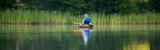 Fishermen cast their lines in Steenykill Lake at High Point State Park, Montague, NJ, in mid-July. Dawn J. Benko for Pike and Monroe Life.
